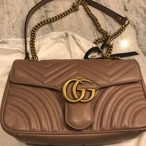 Gucci Marmont Nude- Porcelain Rose Size Small